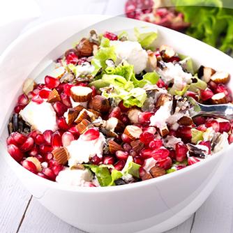 Salade avec Risopiù grenade et noix