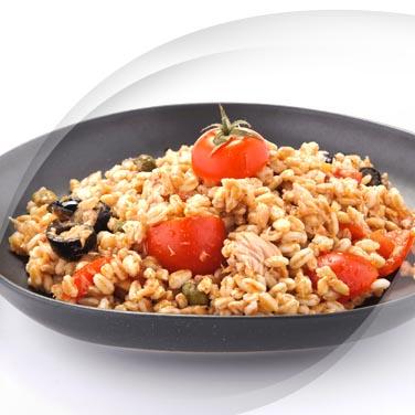 Salade d'épeautre avec risopiù et thon