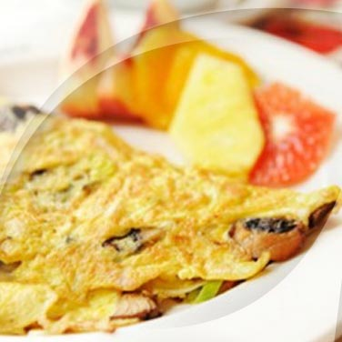 Omelettes jambon - fromage