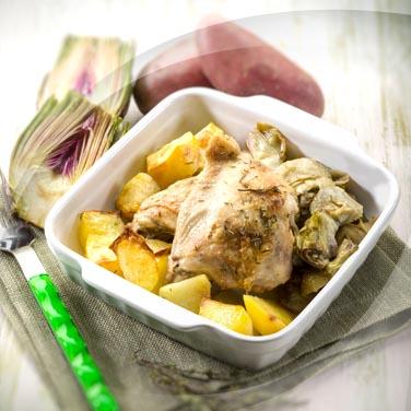 Salade de poulet et artichauts