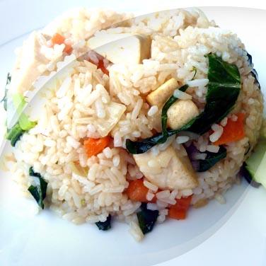 Salade végane avec risopiù tofu