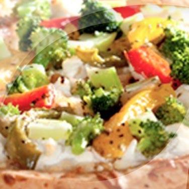 Pizza aux poivrons et aux brocolis