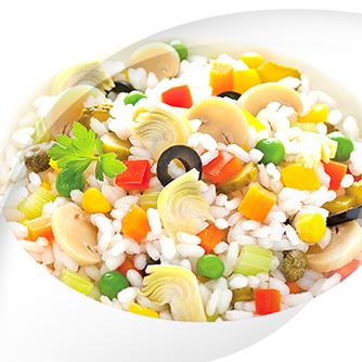 Salade avec risopiù 16 légumes légers