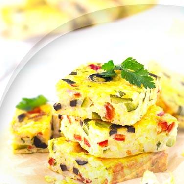 Omelette aux poivrons et au fromage
