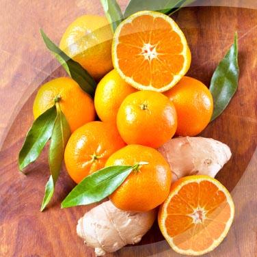 Salade avec Risopiù mandarine et gingembre