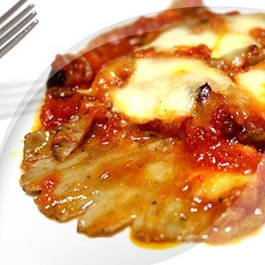 Escalopes aux champignons à la pizzaiola